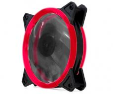 Ventilador gaming doble LED rojo phoenix 12cm / 3 a 4 pines / silencioso / 1200 rpm