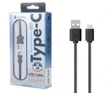 CABLE DATOS USB 2.0 A TYPE-C  2A / 2 METROS / B2521 / NEGRO / ONE+